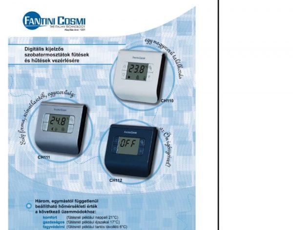 Czinege és fiai elektromos fűtés áruház - Termosztát - Hőmérséklet szabályzós CH112 termosztát fekete