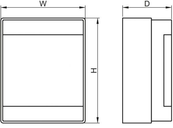 Czinege és fiai elektromos fűtés áruház - Elektromos kiegészítő - Tracon falon kívüli elosztódoboz, átlátszó ajtóval, N/PE sínnel