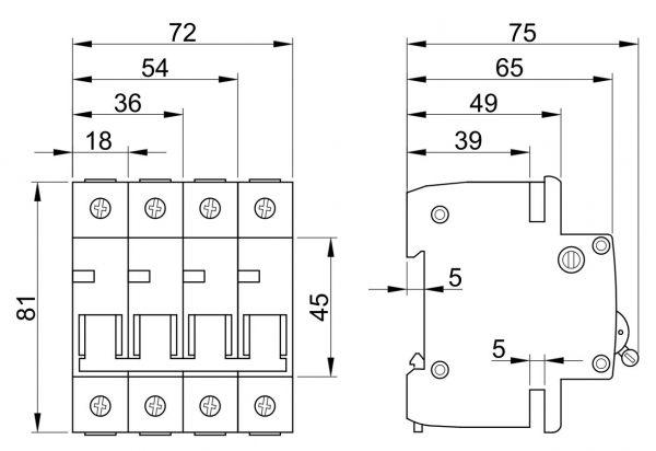 Czinege és fiai elektromos fűtés áruház - Elektromos kiegészítő - Tracon kismegszakító, 1 pólus, B karakterisztika