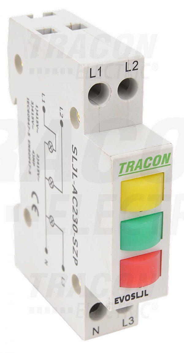 Czinege és fiai elektromos fűtés áruház - Elektromos kiegészítő - Tracon sorolható ledes jelzőlámpa, sárga / zöld / vörös